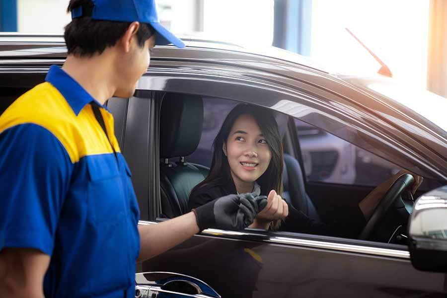 handing the key over for daily car rental singapore